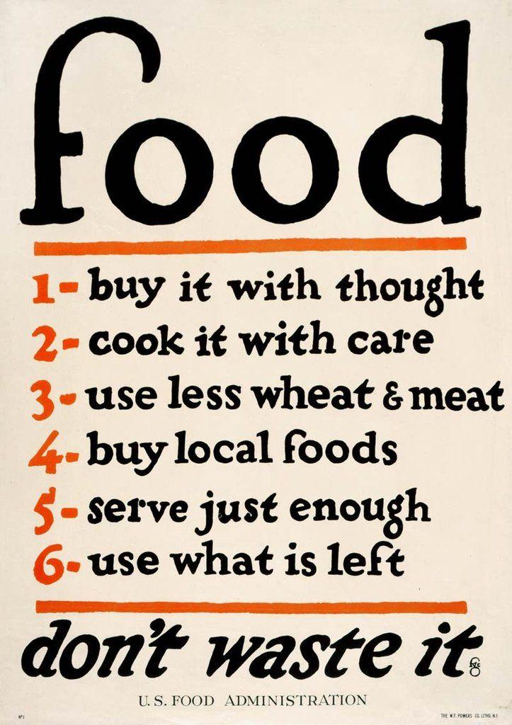 Us Food Administration Public Service Announcement Vintage
