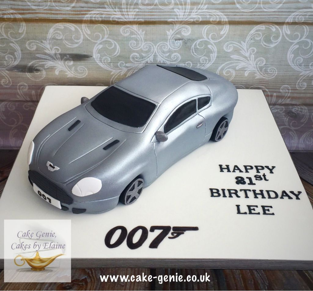 James Bond Aston Martin Db9 Birthday Cake Cars Birthday Cake Aston Martin Dad Birthday Cakes