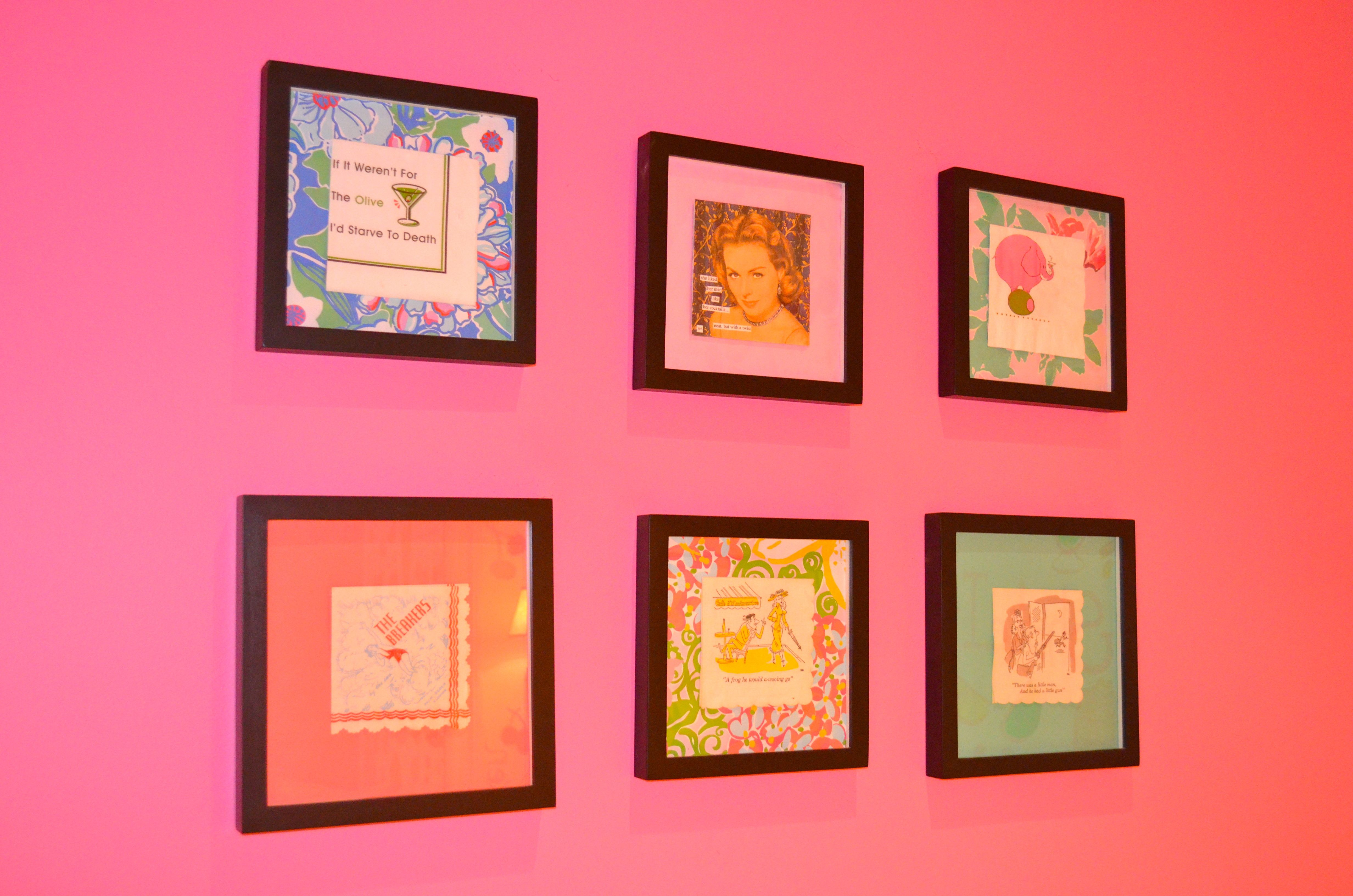 Framed Cocktail Napkins in the Lilly Pulitzer Palm Beach Gardens ...