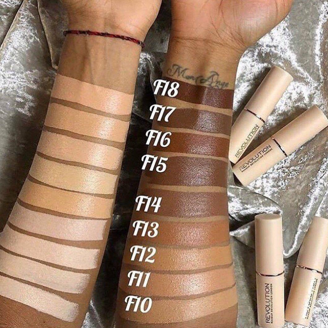 Makeup Revolution fast base foundation Eye makeup