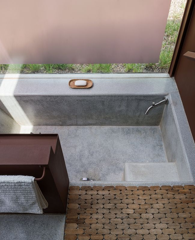 These Separate Studios Keep A Retired Couple Happy Granite - Local bathroom stores
