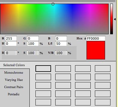 Interactive Hex Html Color Schemer Interactive Color Scheme