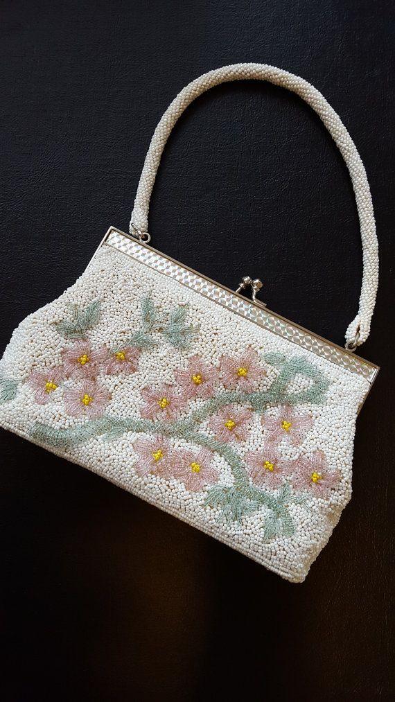 Beaded Purse Handbag By Cmc Made In Taiwan Rep Of China