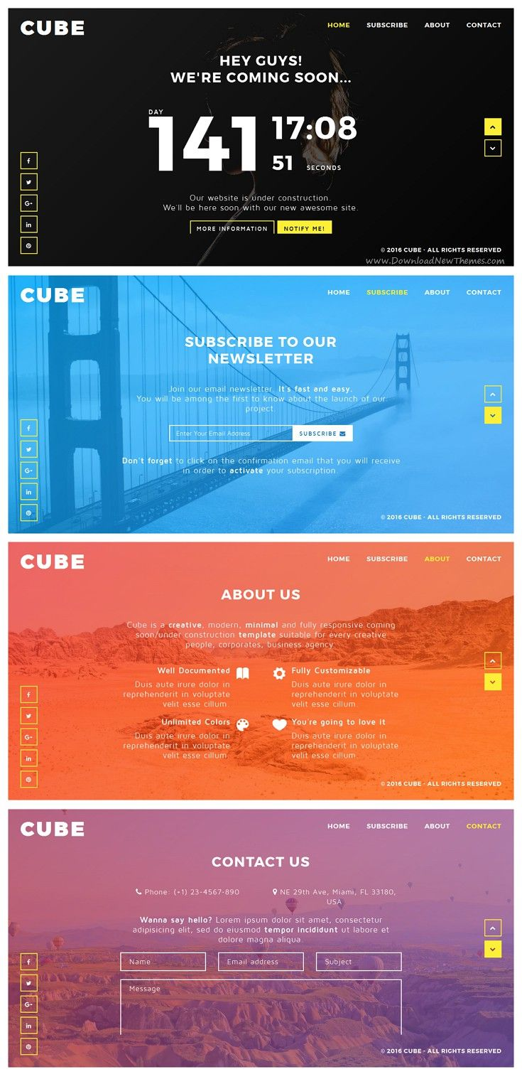 Cube - Creative Coming Soon Template | Template