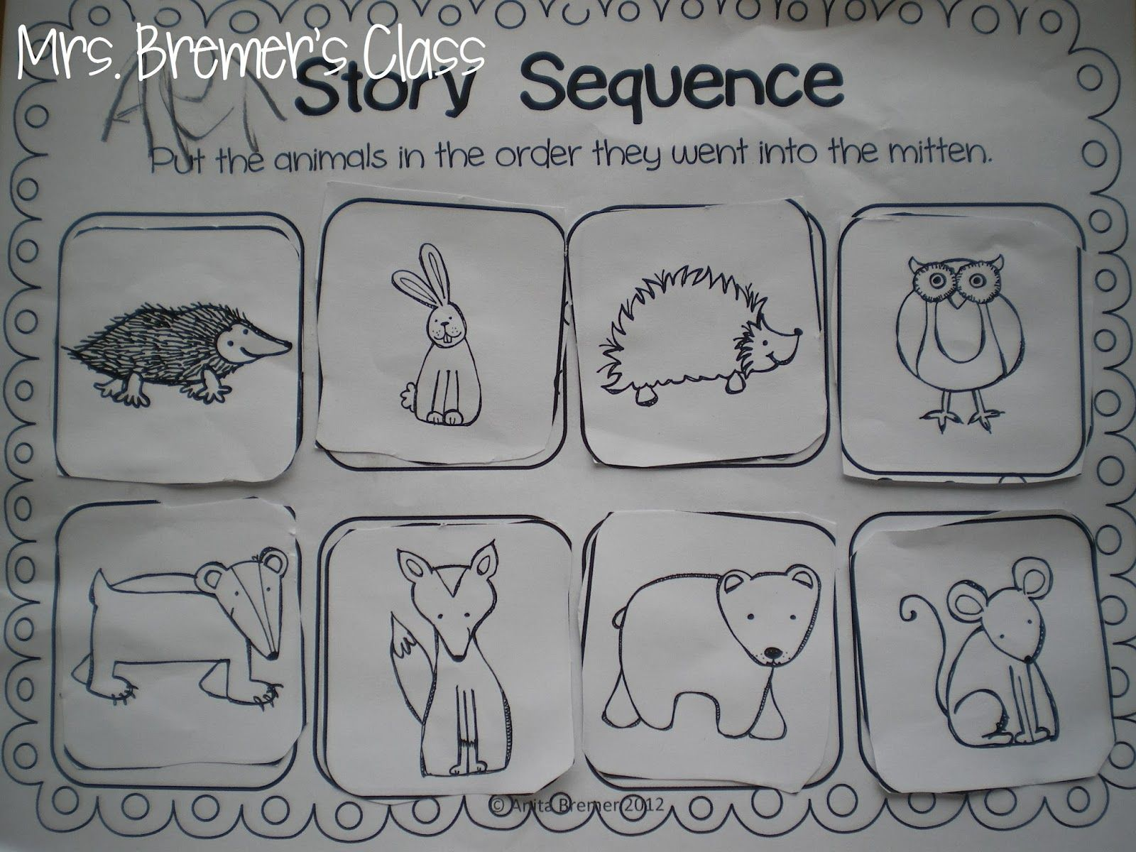 The Mitten Story Sequencing Activity