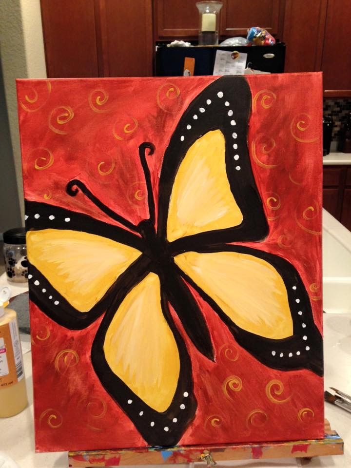 Pin by HotPots on Canvas Painting Ideas | Pinterest | Butterfly ...