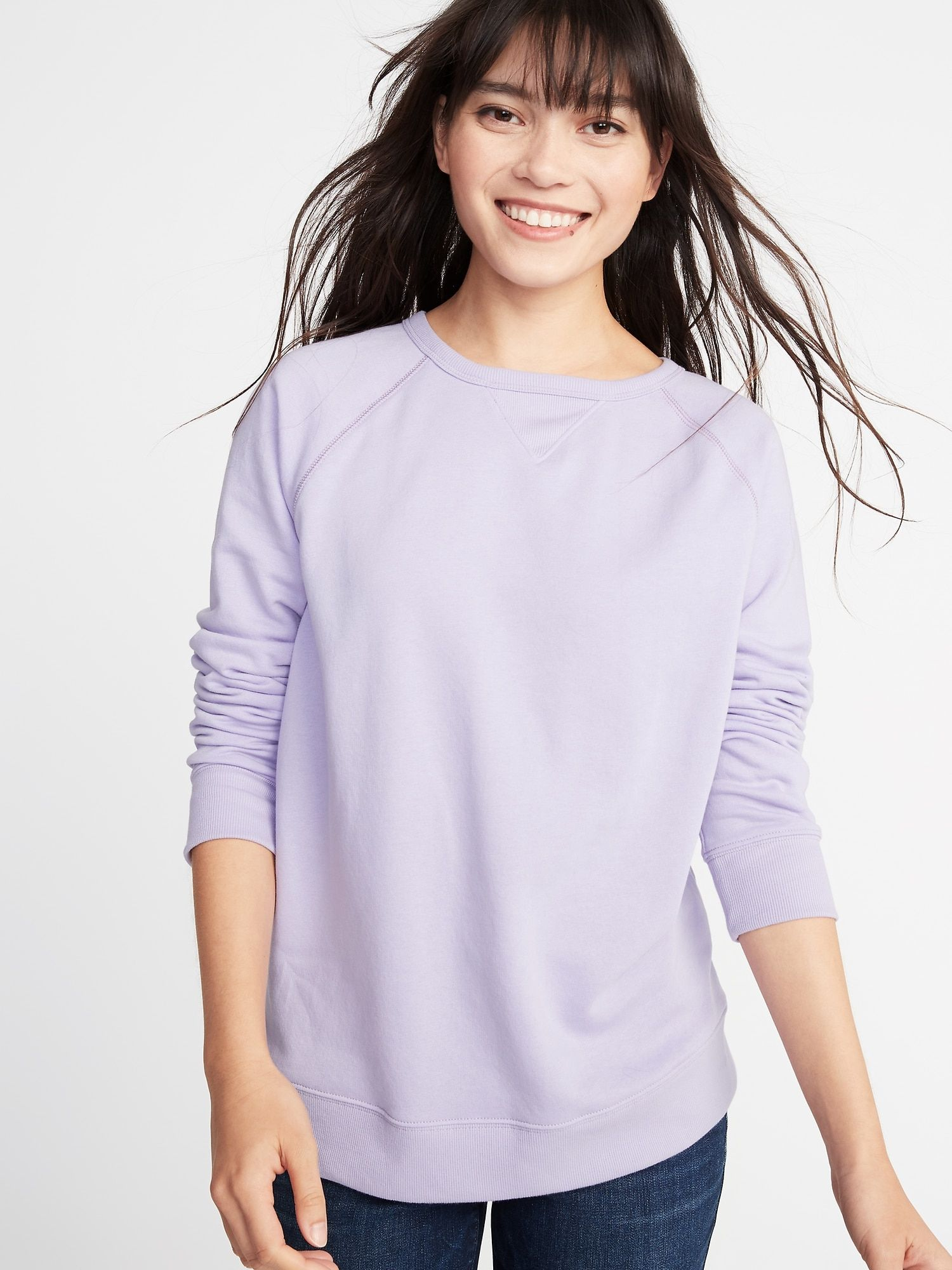 e0ab14552be Relaxed French Terry Sweatshirt for Women