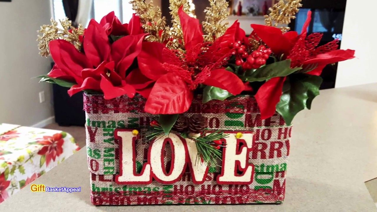 I Upcycled An Oatmeal Box Into A Gorgeous Christmas Flower Using Items From The Dollar Tree