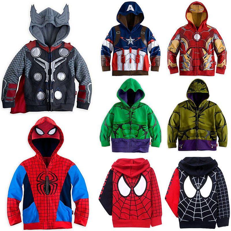 Toddler Kids Boys Clothes Superhero Cosplay Hoodie Jacket Sweatshirt Outwear US