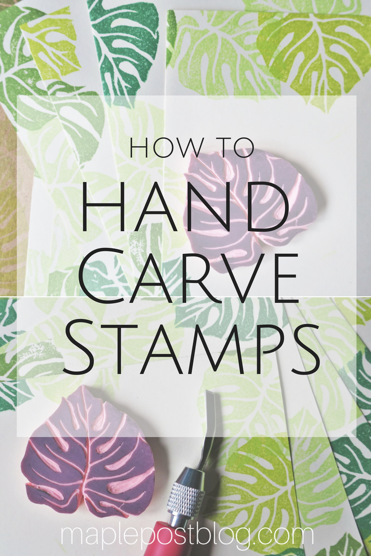 How To Carve Your Own Stamps - Maple Post #fabricstamping