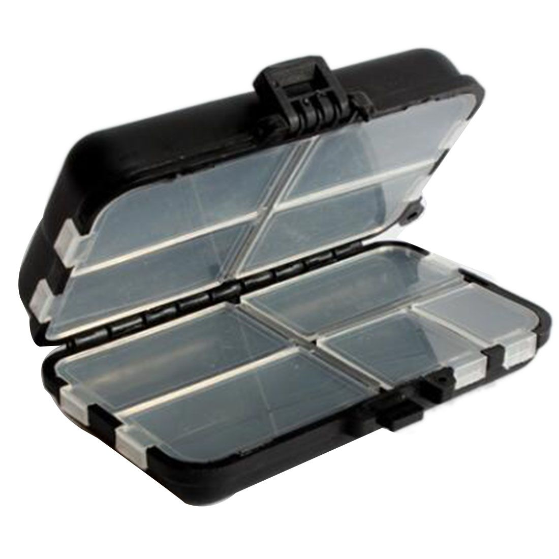 Hot Fishing Lure Bait Tackle Storage Box Case With 9 Compartment For Storing Swivels Free Shipping