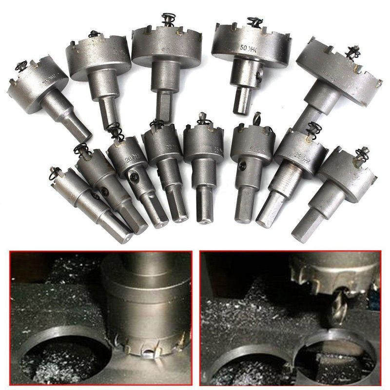 1x13p 16 53mm Carbide Tip Tct Drill Bit Hole Saw Kit Stainless Steel Metal Alloy Products Hole Saw Power Tools Steel Cutter
