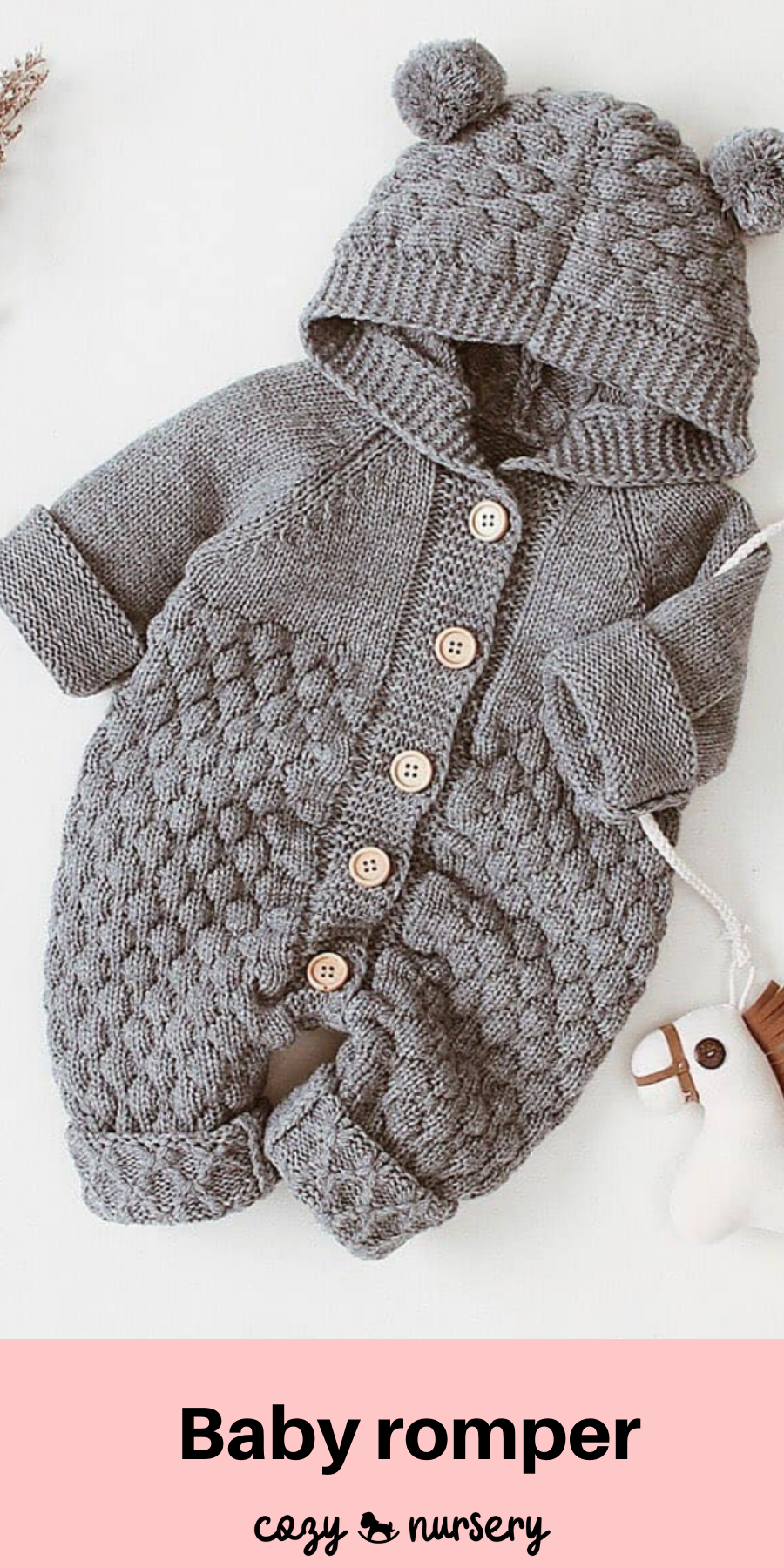 Stunning Baby Boy Blue Cable Knitted Dungaree with Pom Cardigan Suit Cozy Warm