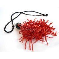 Ciuffo in corallo rosso