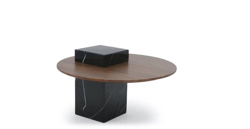 Table D Appoint Marbre Noir Bois De Noyer Nv Gallery Nirvana En 2020 Table D Appoint Marbre Noir Noyer Bois