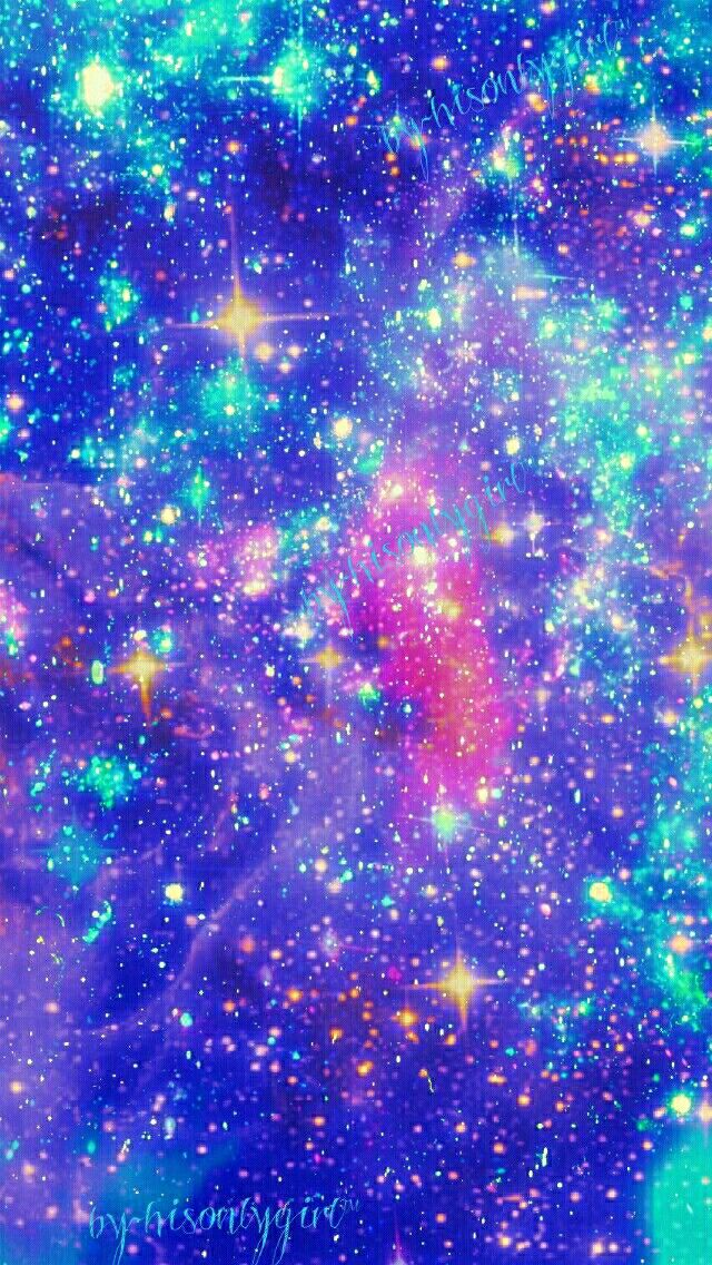 Blue sparkle galaxy wallpaper I made for the app CocoPPa ...