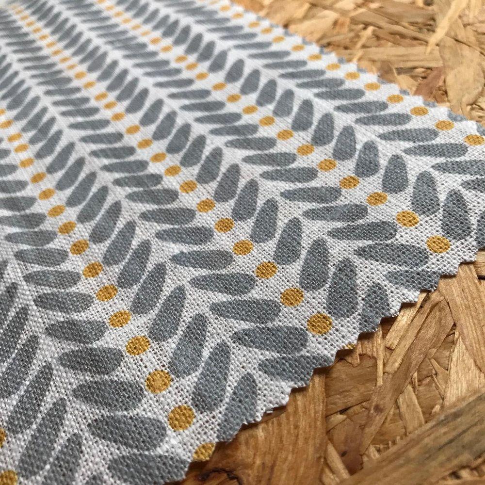 Scandinavian Fabric Yellow Fabric Heiki Mustard Scandinavian Fabric Curtain Fabric Modern Fabric Decor