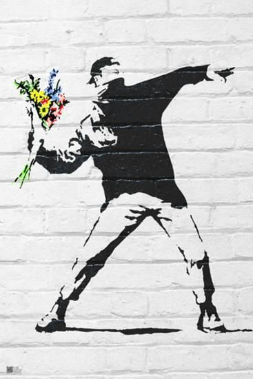 Banksy- Rage, Flower Thrower Photo by Banksy at AllPosters.com