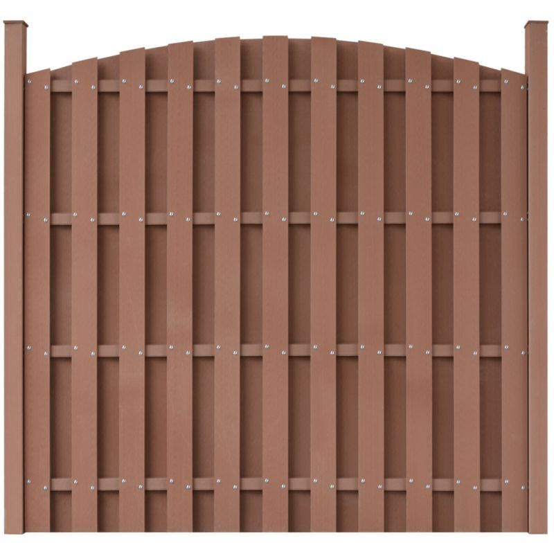 vidaXL Fence Panel WPC 180cm Brown Garden Wall Screen