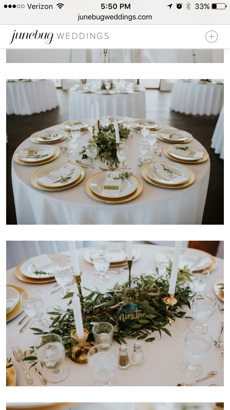 Gold Chargers On White Table Cloths Gold Table Setting White Wedding Table Setting White Table Cloth