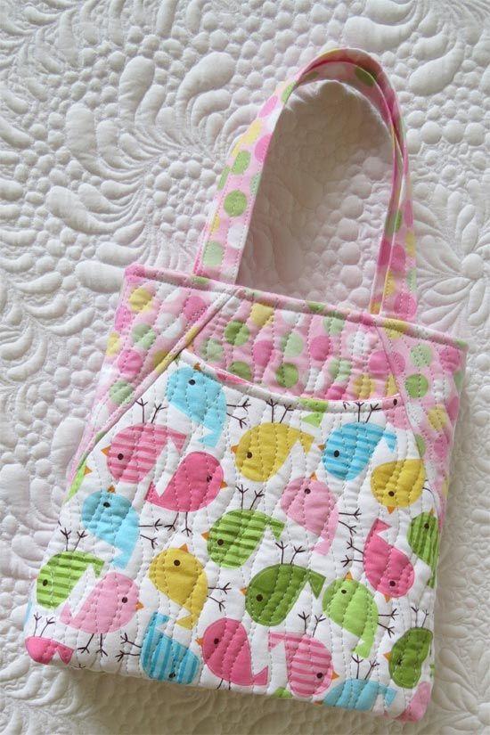 Mini tote bags /Getas Quilting Studio   quilting   Pinterest   Tote ...