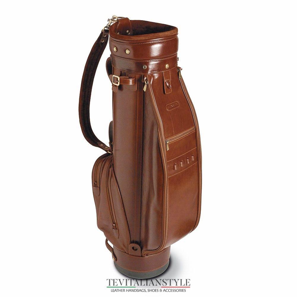 Chiarugi leather golf bag sport equipment golf chiarugi