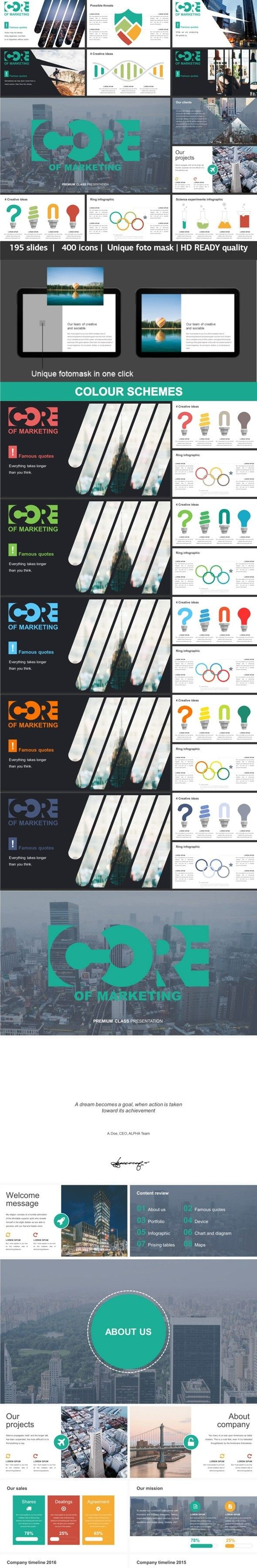 Core Of Marketing Powerpoint Creative Template Business Proposal Vector Idea Infographic With Light Bulb For Diagram Templates Pinterest Annual Reports And Mockup