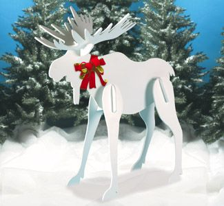 we are making one of these for the front yard but we are going to paint it bright red - Moose Christmas Yard Decorations