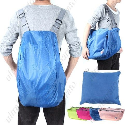 b1c527f6be64  11.69 - Korean 3-Way Foldable Bag with Carrying Pouch Waterproof Shoulder Bag  Backpack Cross-Body Bag for Daily and Travel Uses from UltraBarato Gadgets