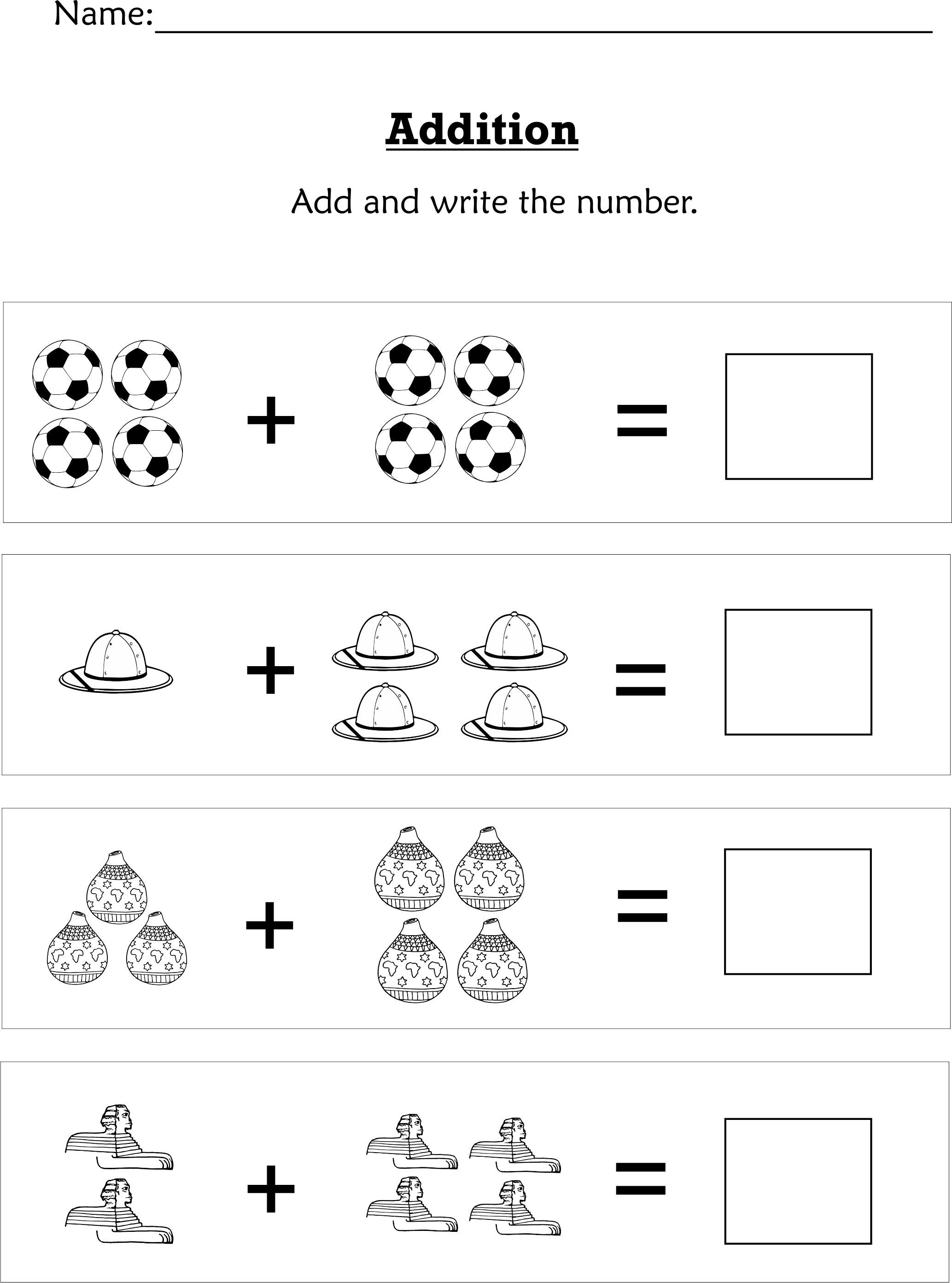 Simple Addition For Preschoolers Or Early Kindergartners