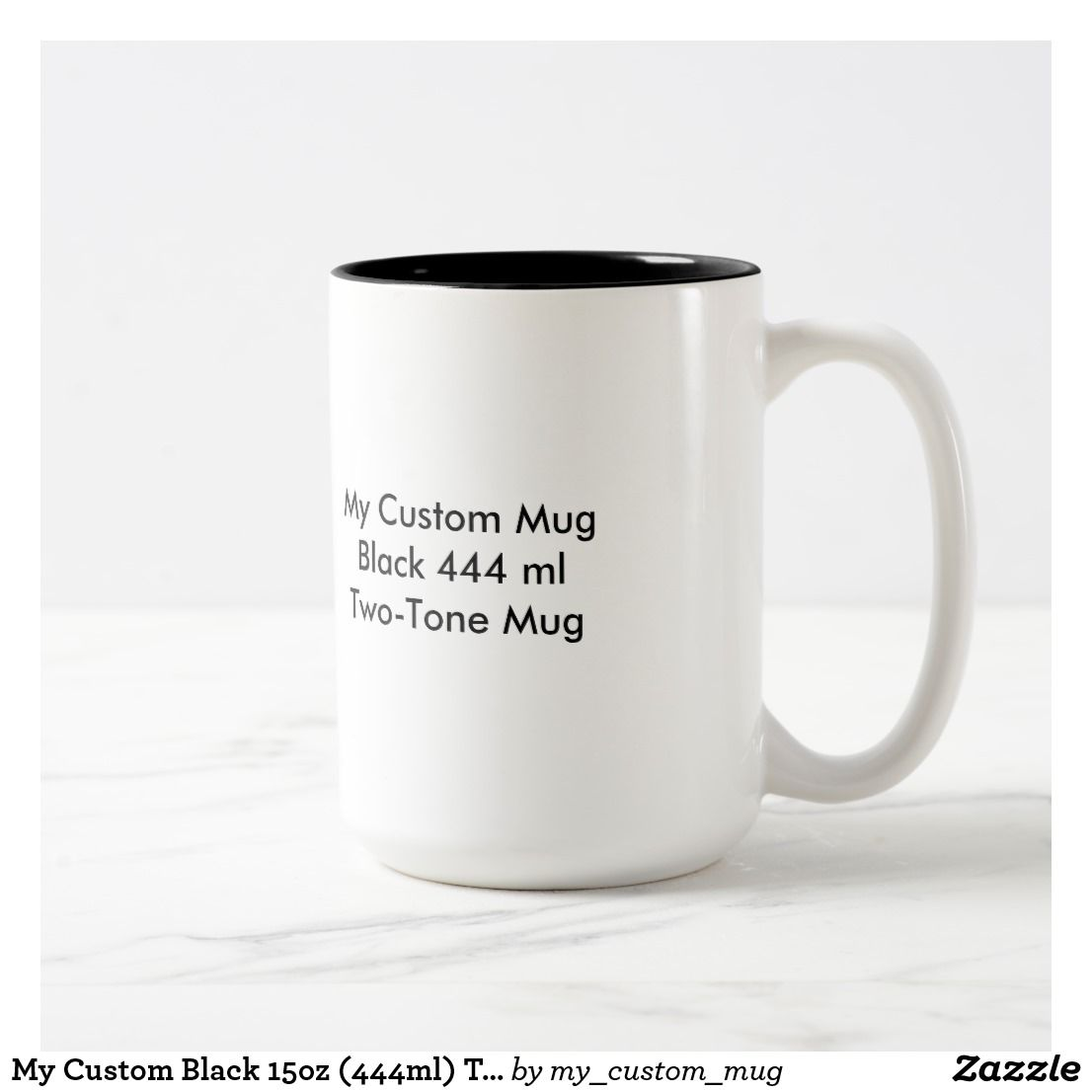 My Custom Black 15oz (444ml) Two-Tone Mug