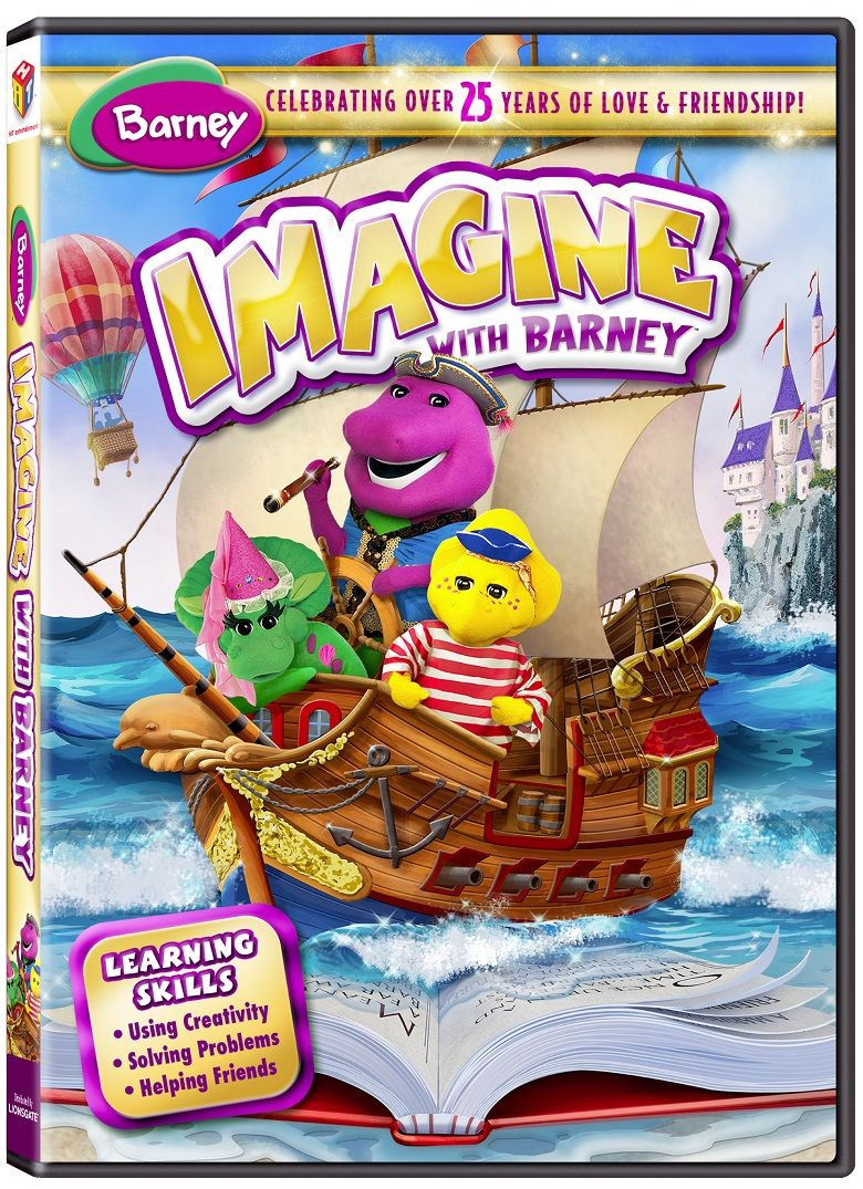 all new barney imagine with barney dvd giveaway giveaways