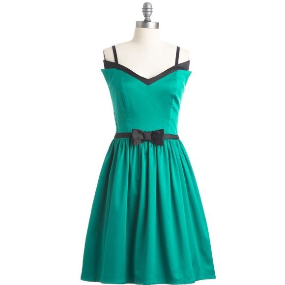 Modcloth Turquoise Homecoming Prom Dress Formal | Swing dancing ...