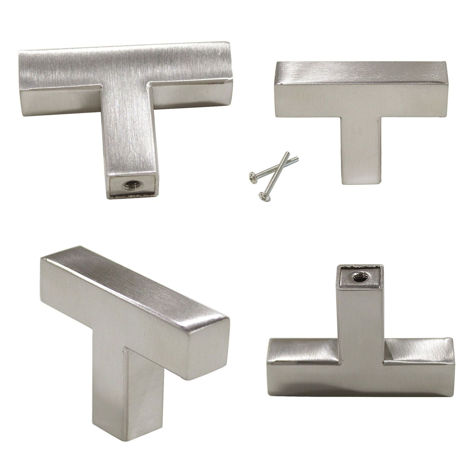 Beautiful Square Brushed Nickel Cabinet Knobs