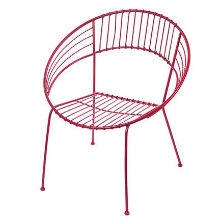 Round Metal Chair In Red Design By Skalny Metal Chairs Chair