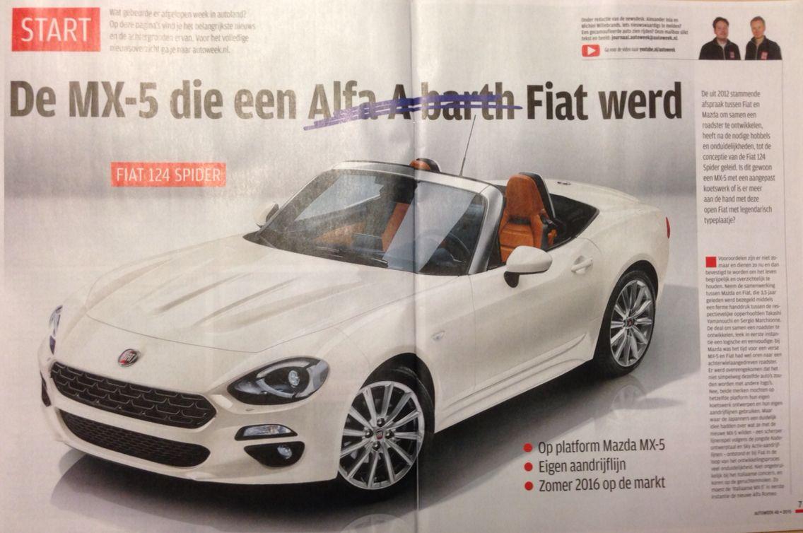 Fiat 124 - 2016 in Autoweek