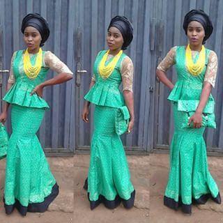 Beautiful Lace Skirt and Blouse Design - http://www.dezangozone.com/2015/12/beautiful-lace-skirt-and-blouse-design.html DeZango Fashion Zone