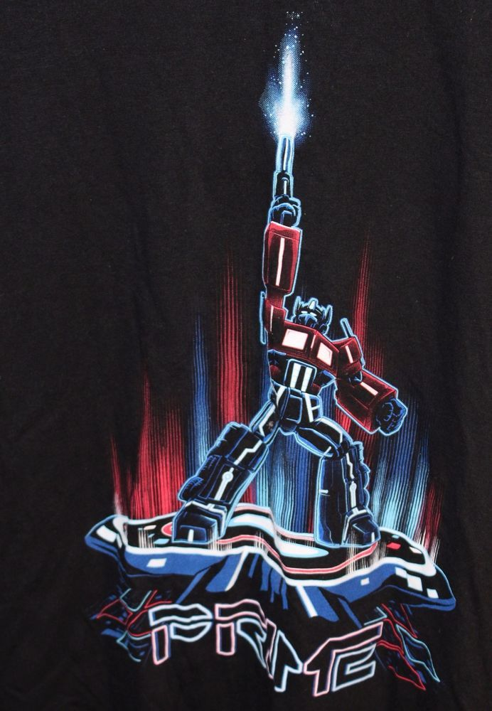 LOOT CRATE EXCLUSIVE OPTIMUS PRIME & TRON SIZE EXTRA LARGE T-SHIRT 3XL #Gildan #GraphicTee