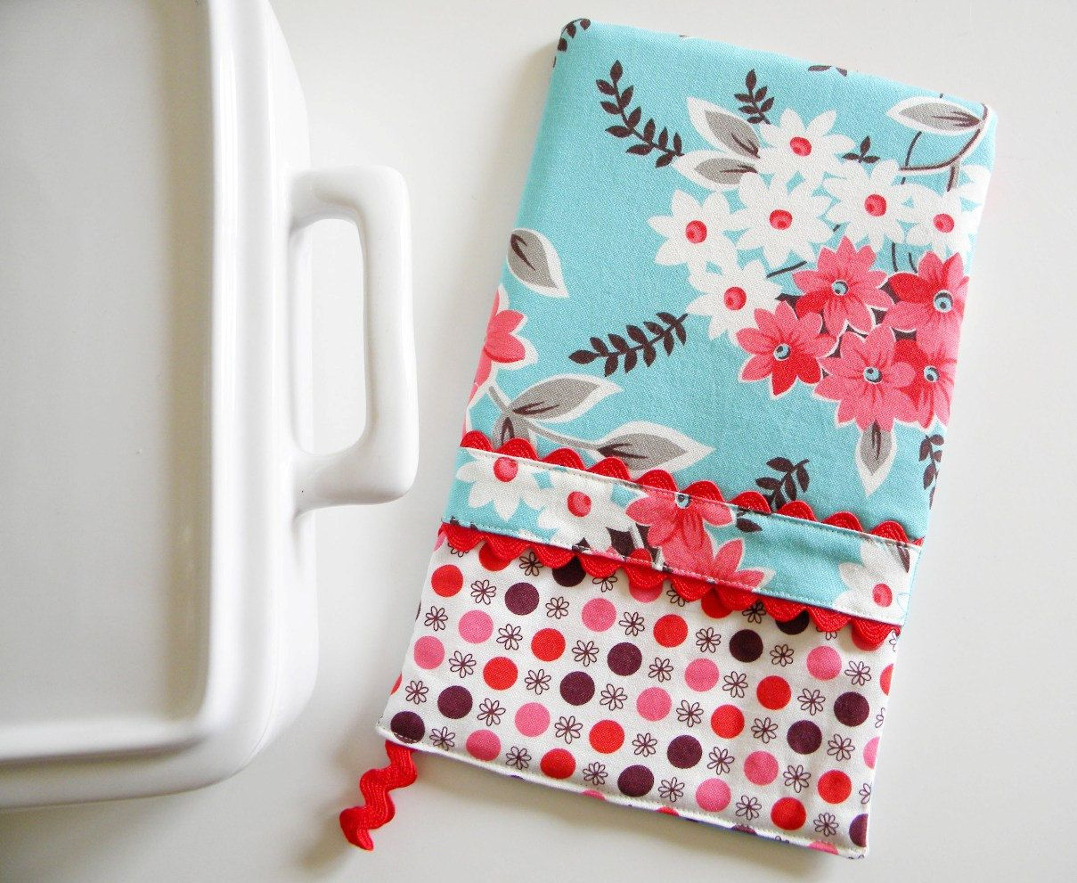 Oven Mitt - Hot Pad Floral Bouquet in aqua and red | City Chic ...