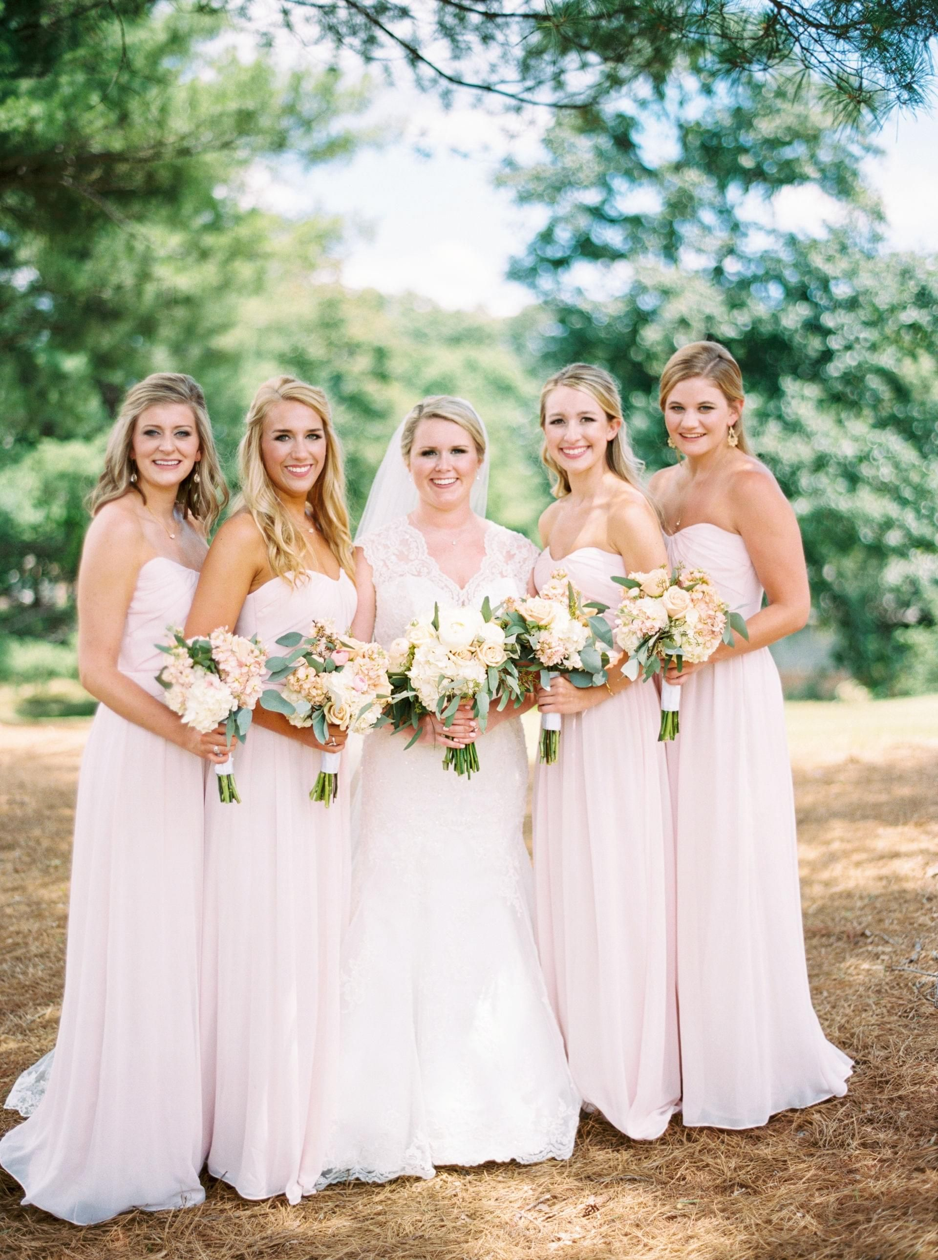Classic spring soire in knoxville knoxville tn party springtime bridal party light pink strapless bridesmaid dresses pastel wedding bouquets jophoto ombrellifo Choice Image