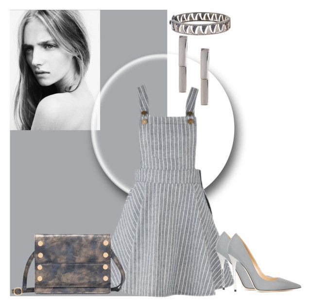 """""""Grey Love"""" by stylecraver ❤ liked on Polyvore featuring 14th & Union, Hammitt and Jimmy Choo"""