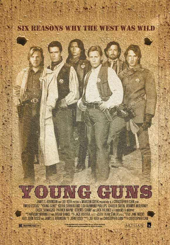Young Guns 27x40 Movie Poster 1988 Young Guns Billy The Kids
