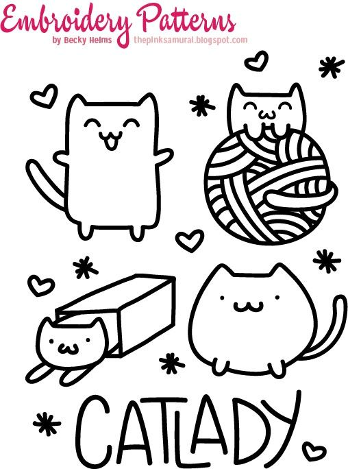 Cat Embroidery Patterns Diy Pinterest Embroidery And Patterns