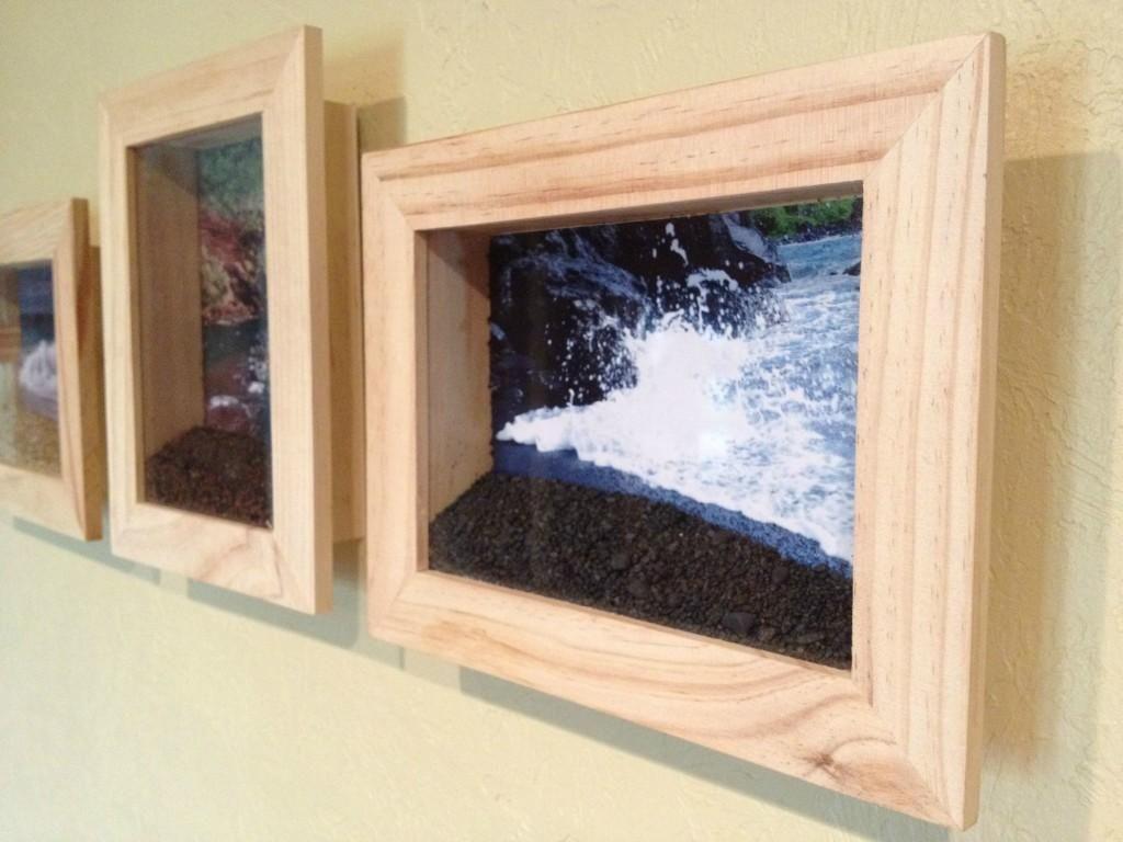 2fa1b340fdb Crea la playa en un cuadro. ¡Una buena idea para decorar tu hogar con tus  escapadas al mar!