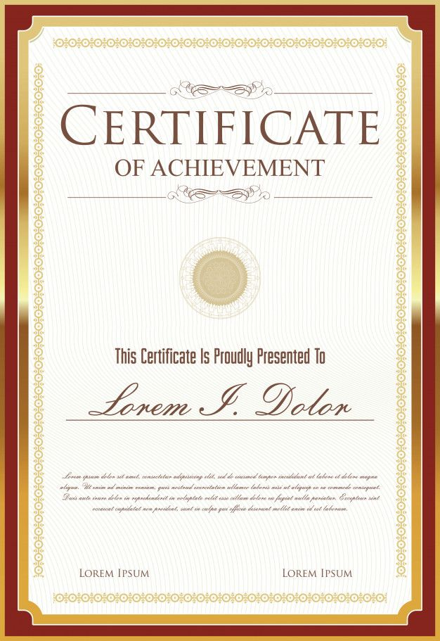 Certificate (Dengan gambar) Desain, Seni, Bingkai