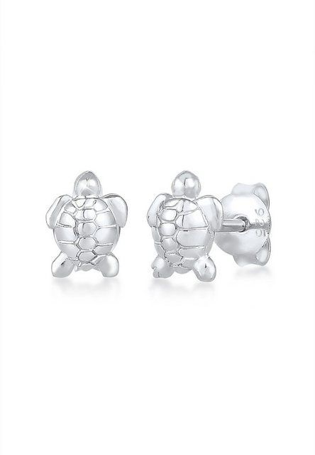 Paar Ohrstecker Plug Turtle Sea Holiday Beach 925 Silber  Products