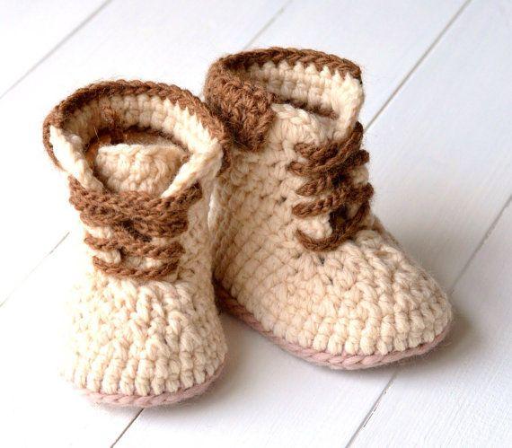 CROCHET PATTERN Baby Boy Timberland Style Baby Booties Pattern 3 ...