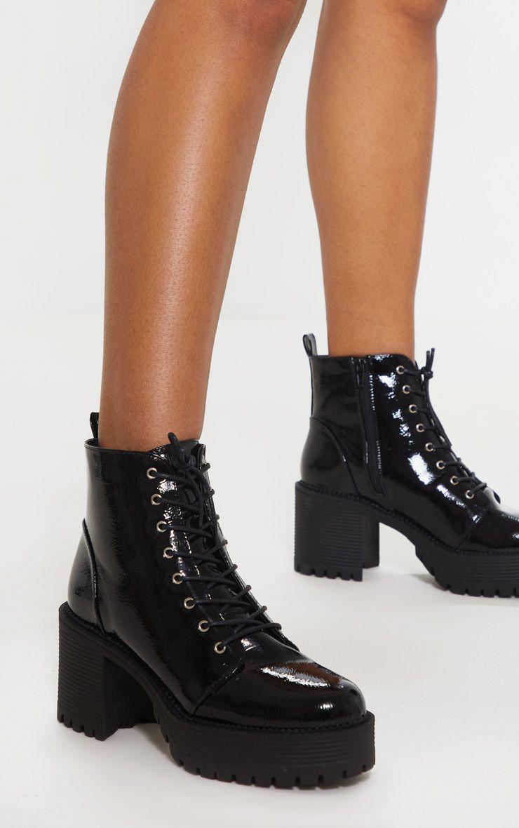 Black Block Heel Sock Boot | Boots