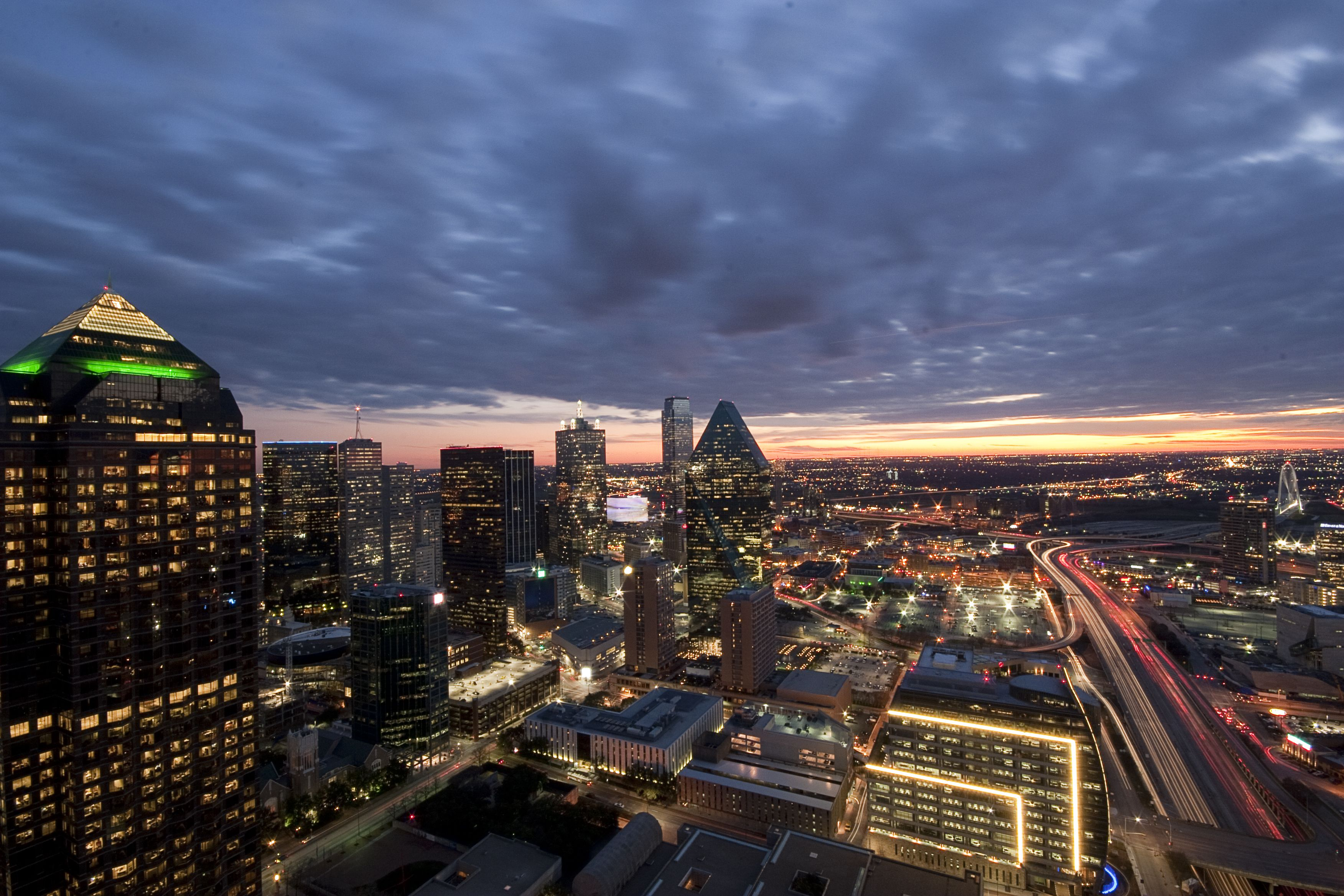 View From The Top Of Museum Tower In Downtown Dallas Http
