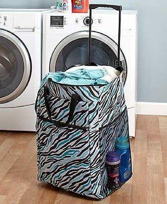 Laundry Hamper Portable Rolling Basket Bag Dorm Clothes Storage Sort Organize Dorm Storage Dorm Laundry Dorm Room